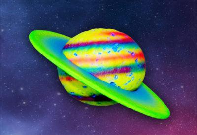 Planetas Luminosos Pequeños 3D